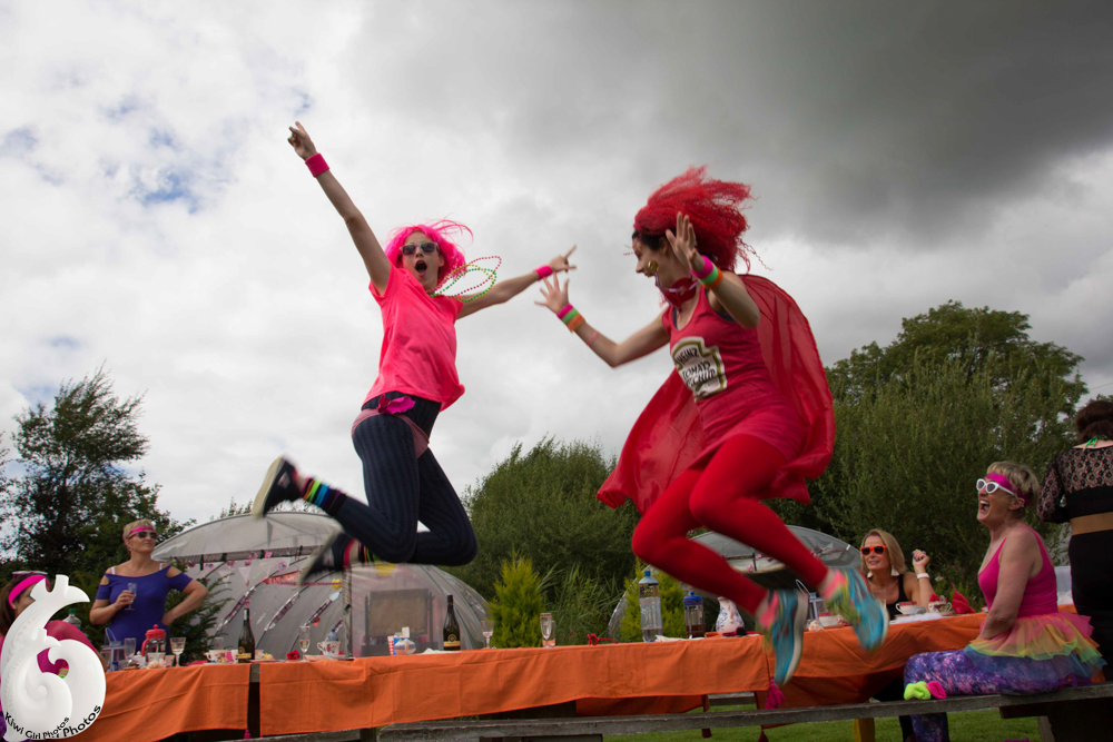 Hens having Fun at Hen Party Glamping