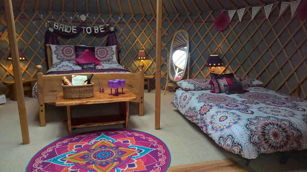 Plum Tree Yurt in Ireland - Hen Party Glamping