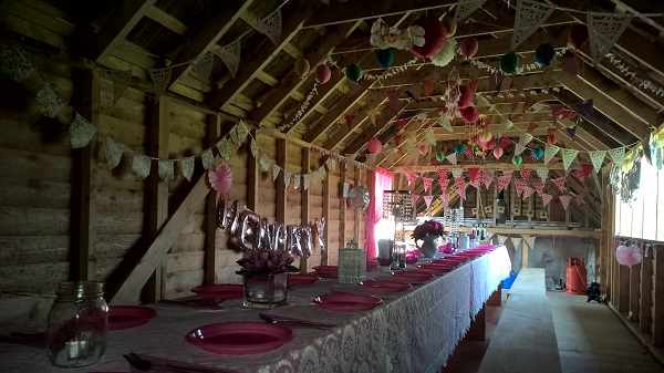 Hen Party Glamping Feast