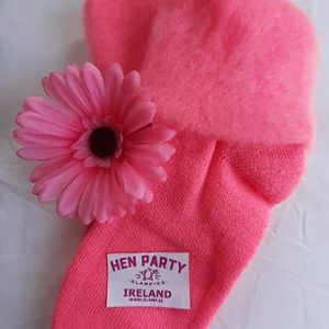 Warm and Comfortable Lipstick Pink Bed and Leisure Socks