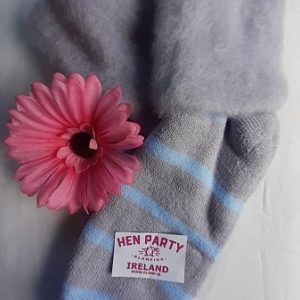Soft Lilac Bed and Leisure Socks Featuring Powder Blue Stripes