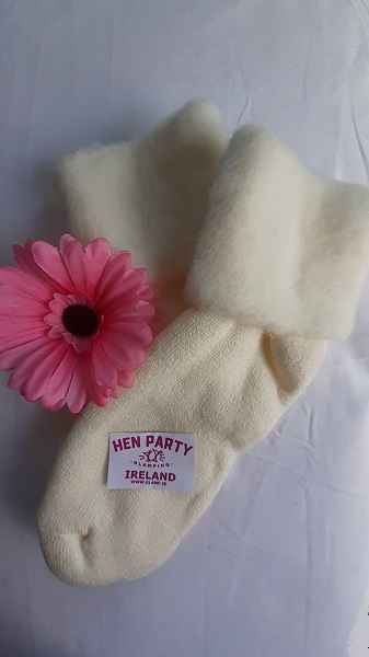 Warm and Comfortable Winter White Bed and Leisure Socks