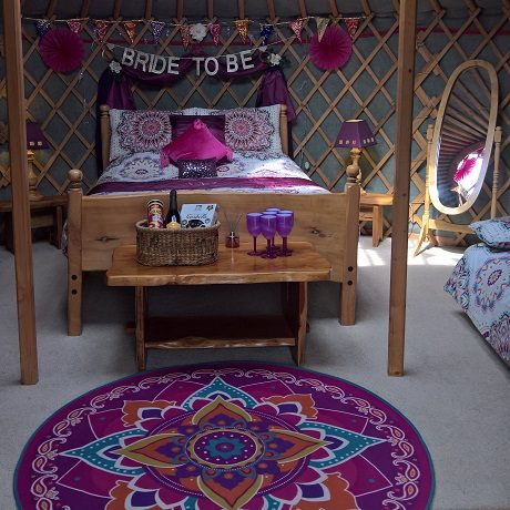 Hen Party Yurt - Purple Decor